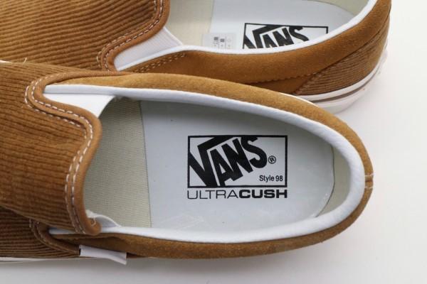 【USA購入 正規新品】VANSバンズ 24.5cm アナハイムファクトリー スリッポン98 ブラウン茶コーデュロイ ビンテージ 靴シューズ☆9c40_画像5