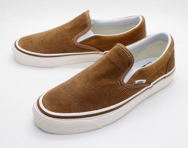 【USA購入 正規新品】VANSバンズ 24.5cm アナハイムファクトリー スリッポン98 ブラウン茶コーデュロイ ビンテージ 靴シューズ☆9c40_画像1
