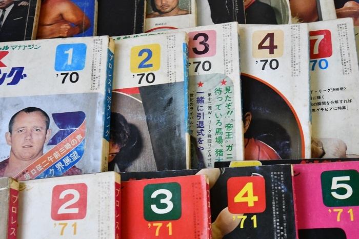 ■プロレス&ボクシング 37冊セット ベースボールマガジン社 1966~72年発行 ジャイアント馬場サイン有り_画像5