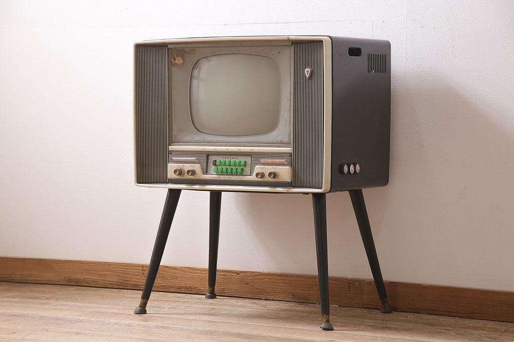 R-046929 ジャンク品 SHARP(シャープテレビジョン) 早川電機 TB-61型 真空管テレビ(脚付、アンティーク、レトロ)(R-046929)_画像1