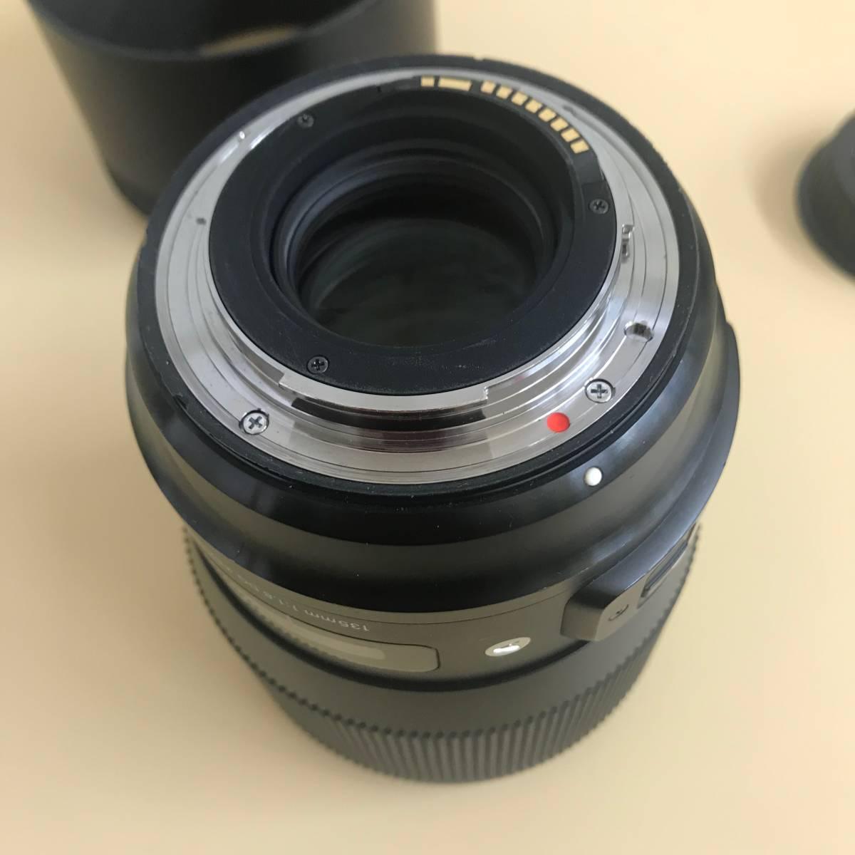 SIGMA シグマ 135mm f1.8 DG HSM Canon用_画像2