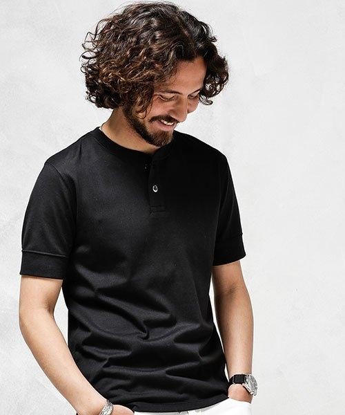 ナノユニバース Anti Soaked ヘビーヘンリーネックTシャツ Mサイズ 現行品_画像2