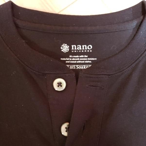ナノユニバース Anti Soaked ヘビーヘンリーネックTシャツ Mサイズ 現行品_画像3