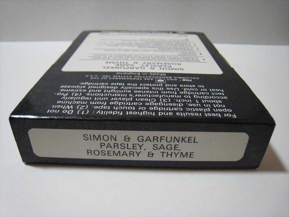 【8トラックテープ】 SIMON & GARFUNKEL / PARSLEY, SAGE, ROSEMARY & THYME UK版 箱付 サイモンとガーファンクル_画像4