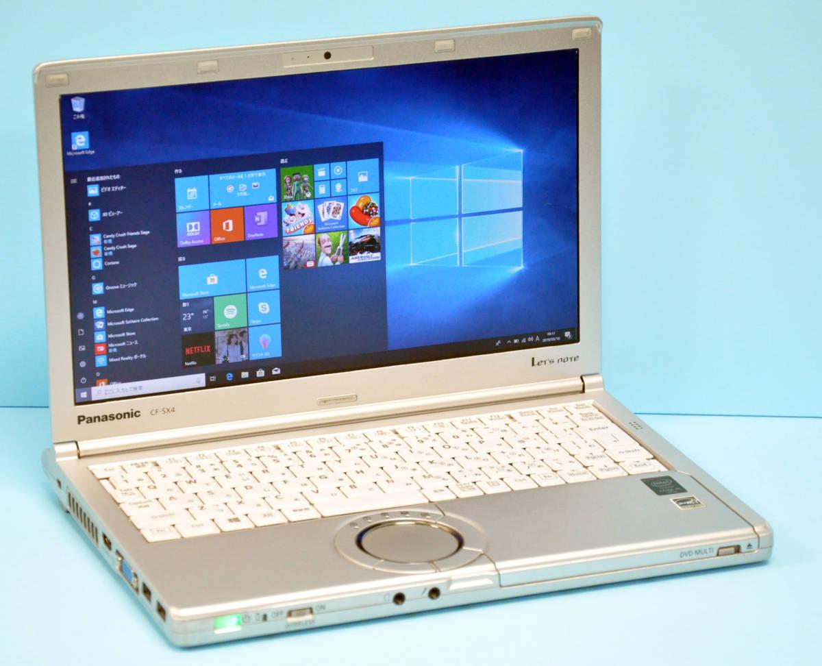 ♪ 使用時間5170H ♪ Panasonic CF-SX4 Corei5-5300U / メモリ 4GB / HDD:320GB / カメラ / Bluetooth / Office / Win10 _画像1