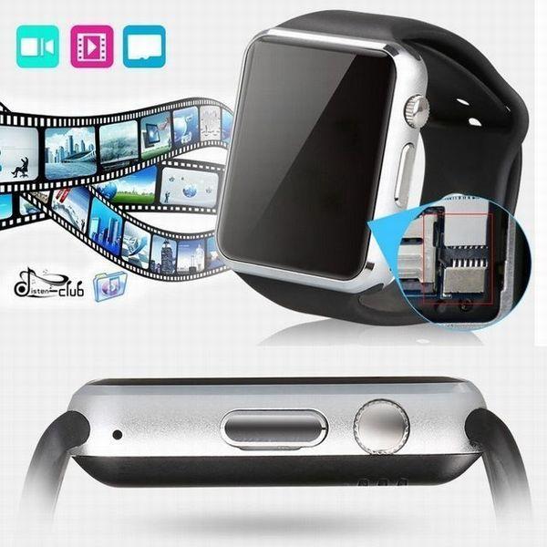 送料無料 新品 A1 スマートウォッチ Bluetooth スマートデジタル 腕時計 watch smart ウォッチ ホワイト 【時刻設定の日本語説明書付】_画像2