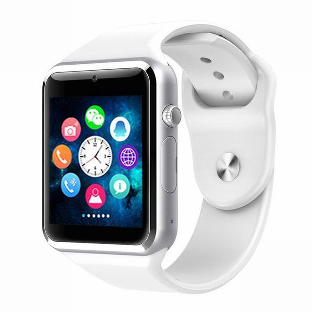 送料無料 新品 A1 スマートウォッチ Bluetooth スマートデジタル 腕時計 watch smart ウォッチ ホワイト 【時刻設定の日本語説明書付】_画像4