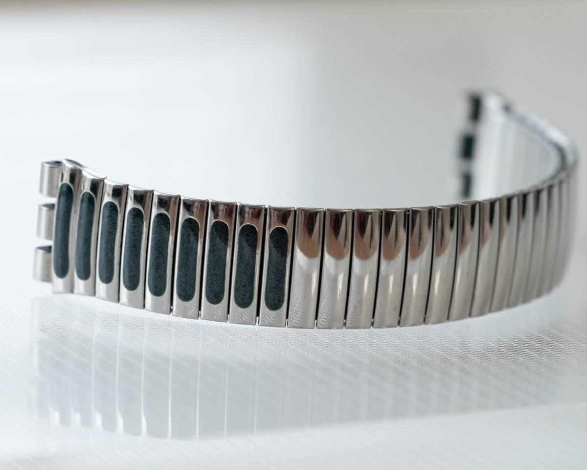 スウォッチ Swatch 純正革ベルトと 蛇腹ベルトのセット 電池交換済_画像7
