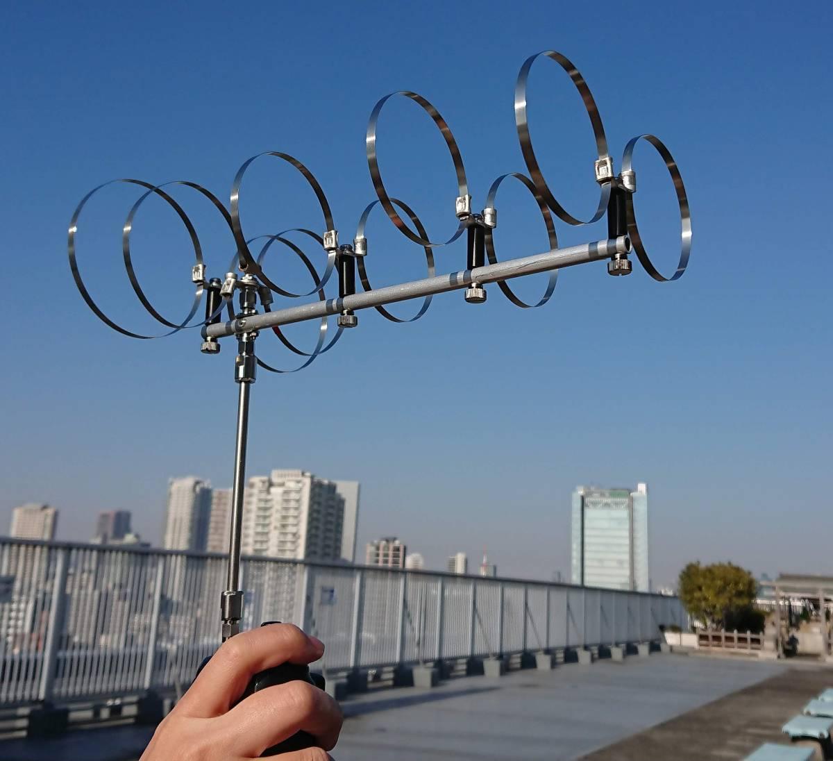 1200Mhz帯5エレメントツインループアンテナ