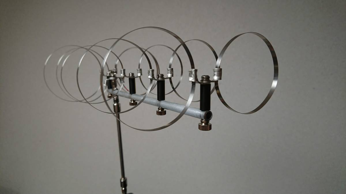 ハンディ機直結 1200Mhz用 5エレメント ツインループアンテナ(真鍮同軸管付)No15_画像6