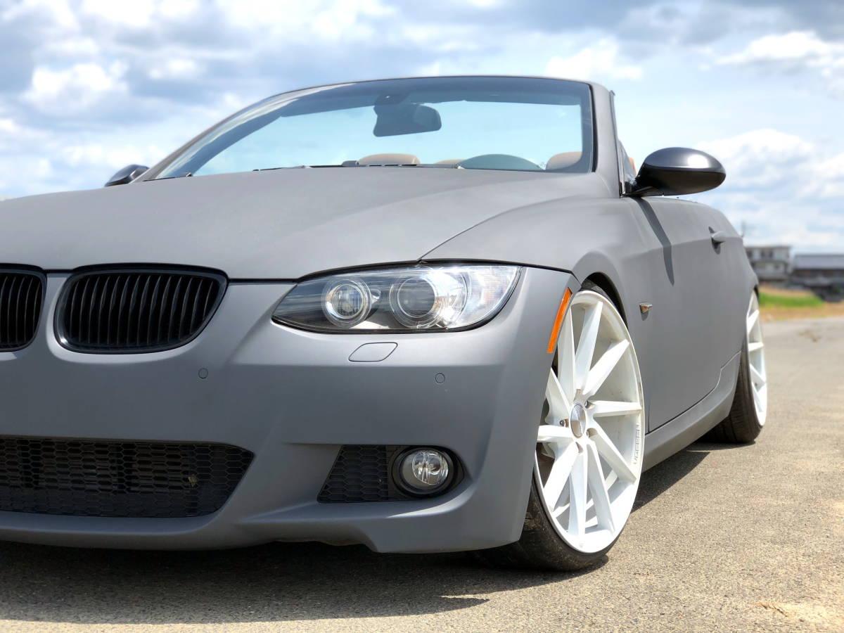 売切 BMW 335i Mスポーツ カブリオレ オープンカー 左ハンドル 走行55,000キロ 車高調 マフラー HID 20インチホイール フルカスタム_画像3