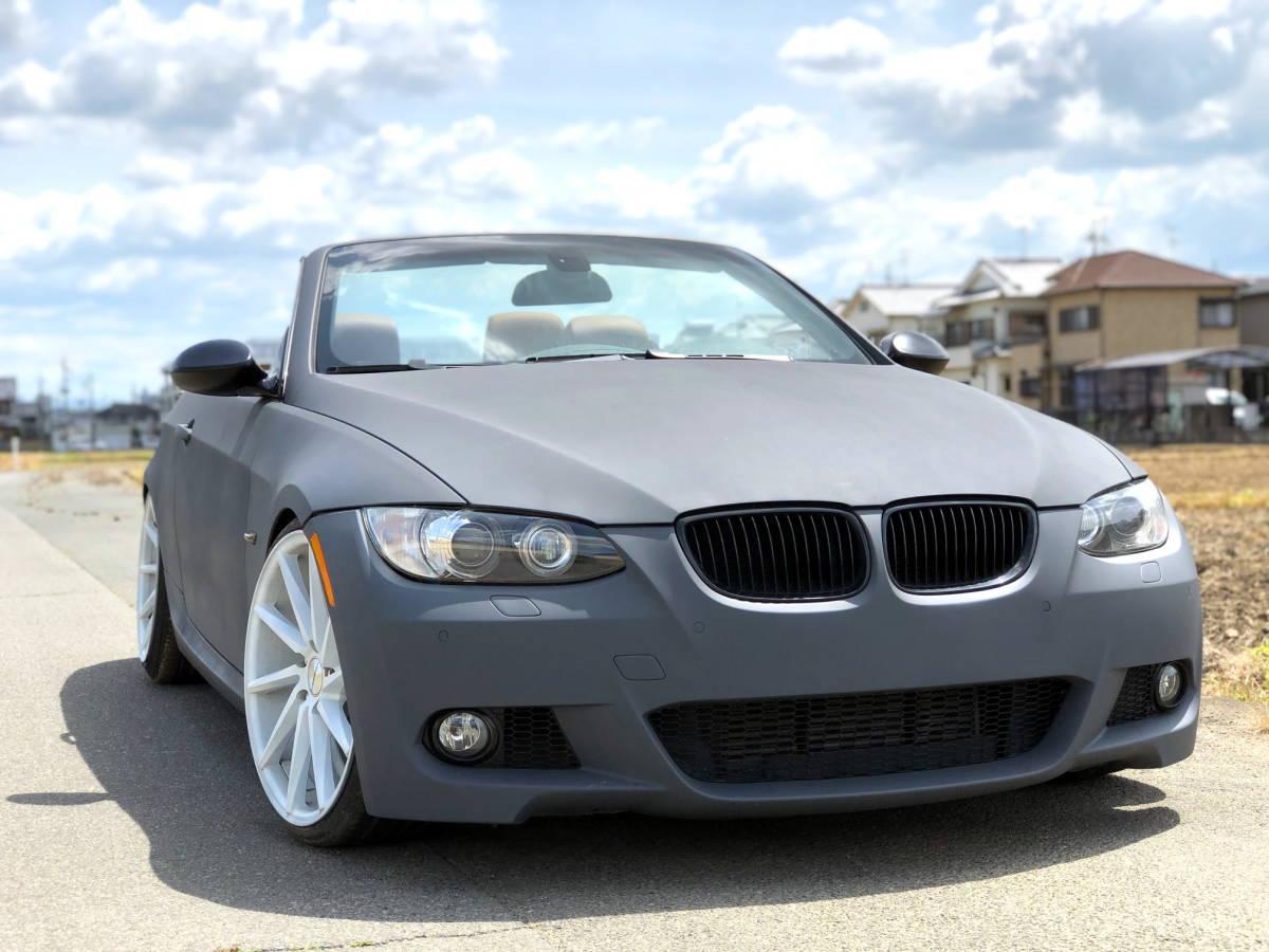 売切 BMW 335i Mスポーツ カブリオレ オープンカー 左ハンドル 走行55,000キロ 車高調 マフラー HID 20インチホイール フルカスタム_画像2