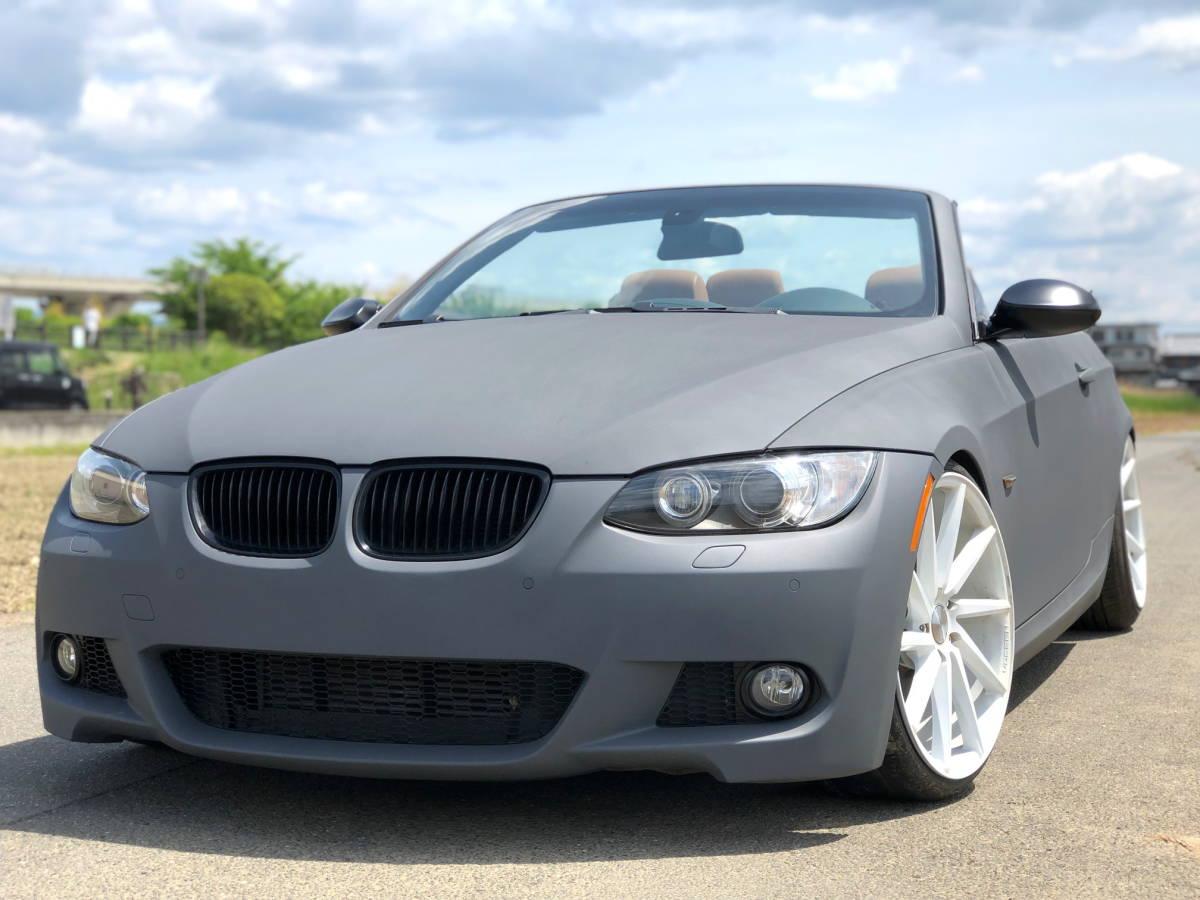 売切 BMW 335i Mスポーツ カブリオレ オープンカー 左ハンドル 走行55,000キロ 車高調 マフラー HID 20インチホイール フルカスタム_画像1