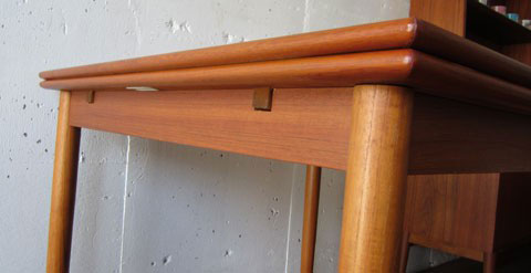 北欧家具 ダイニングテーブル ビンテージ チーク スクエア エクステンションテーブル デンマーク家具 ユーズド家具 拡張 _画像7