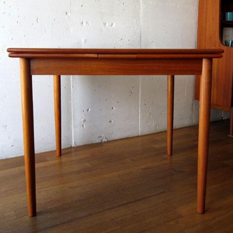 北欧家具 ダイニングテーブル ビンテージ チーク スクエア エクステンションテーブル デンマーク家具 ユーズド家具 拡張 _画像6