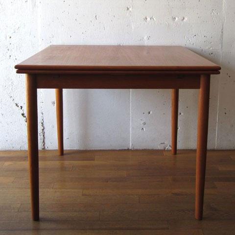 北欧家具 ダイニングテーブル ビンテージ チーク スクエア エクステンションテーブル デンマーク家具 ユーズド家具 拡張 _画像2
