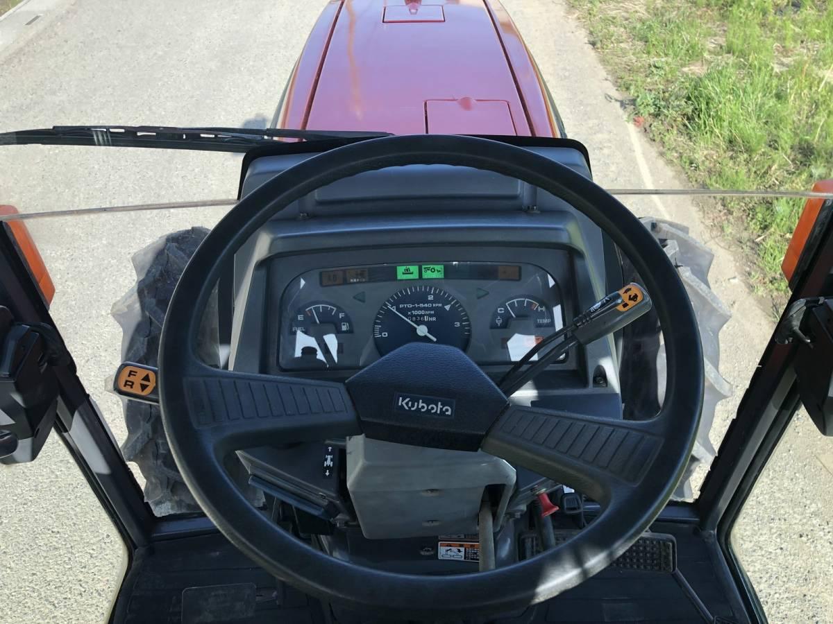 クボタ トラクター GL321 倍速ターン エアコンキャビン 836時間 33馬力 4WD 純正ロータリー タイヤ4本新品_画像6