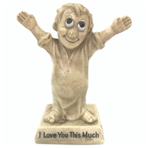 メッセージドール I Love You This Much インテリア 雑貨 小物 置物 ビンテージ アンティーク オールド レトロ シリースカルプス D-2034_画像1