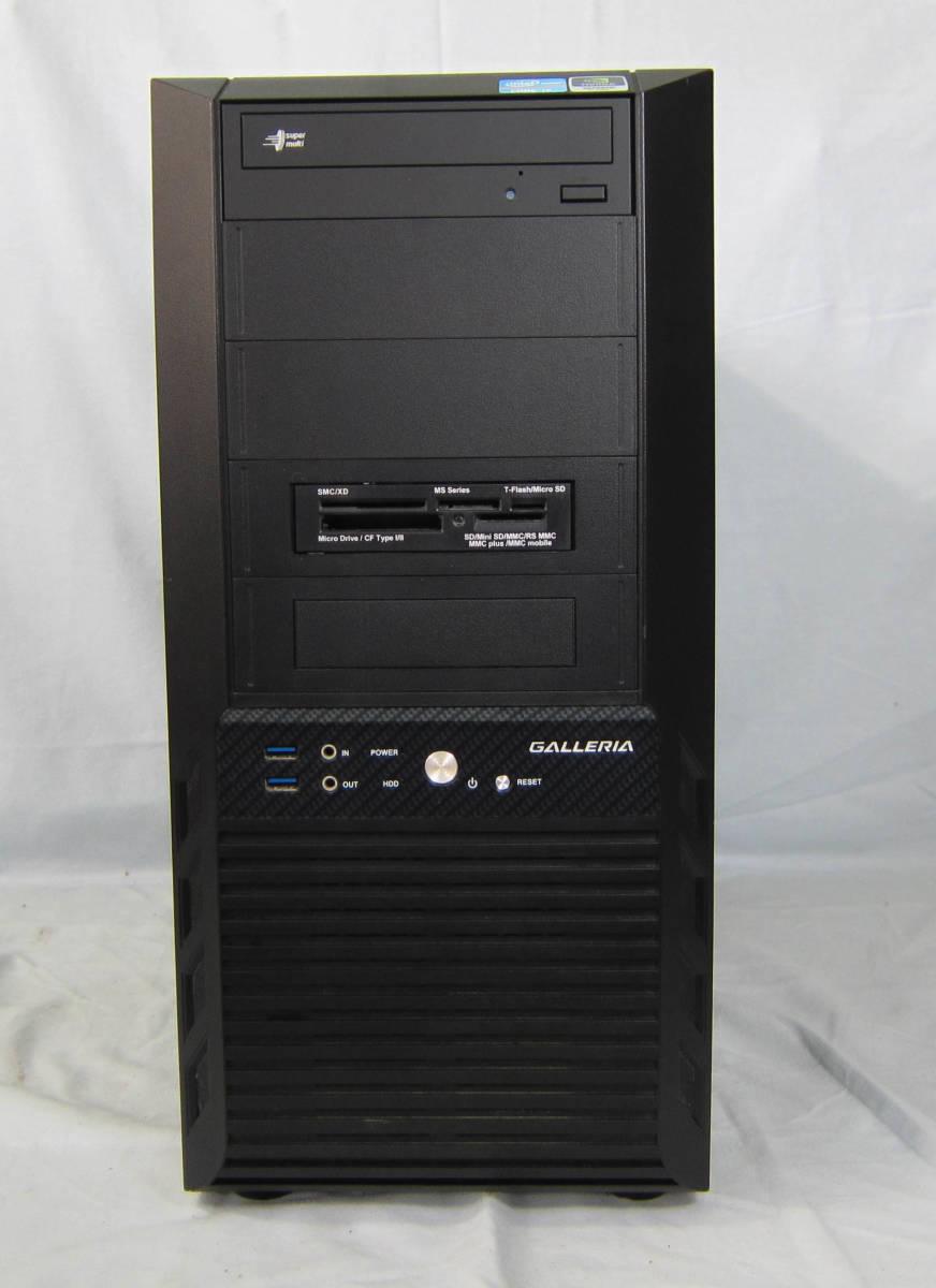 ●M113 BTO タワー型 ゲーミングPC GALLERIA Corei7-3770 3.4GHz/8GB/SSD120GB+1TB×2/DVDマルチ/GeForce GTX670/Win10_画像2