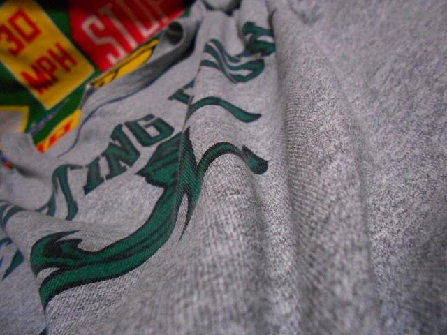 ★霜降りボディーが◎な1枚★Made in USA製アメリカ製Championチャンピオンビンテージ染み込みカレッジプリントTシャツ80s80年代トリコタグ_画像8