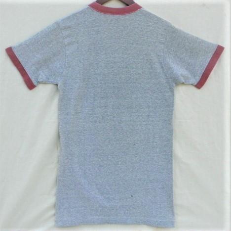 ビンテージ 50s60s TOWNCRAFT タウンクラフト OLD Tシャツ 初期1st グレー霜降り杢 リンガートリム ツートン 旧タグ旧ロゴ ワーク カレッジ_画像2