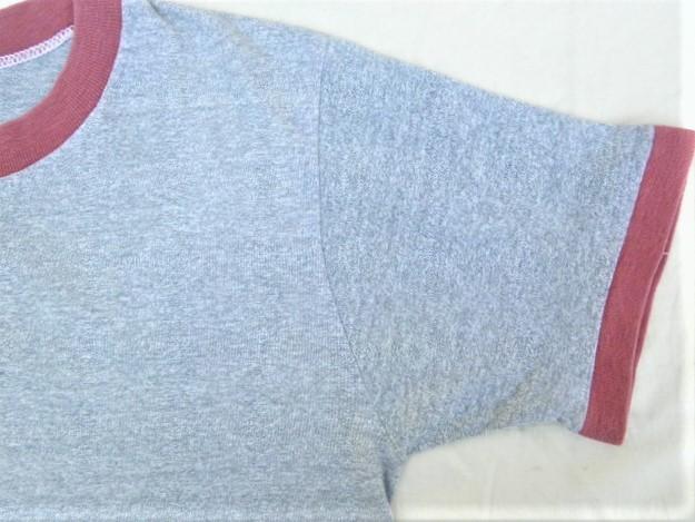 ビンテージ 50s60s TOWNCRAFT タウンクラフト OLD Tシャツ 初期1st グレー霜降り杢 リンガートリム ツートン 旧タグ旧ロゴ ワーク カレッジ_画像6