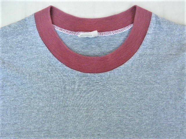 ビンテージ 50s60s TOWNCRAFT タウンクラフト OLD Tシャツ 初期1st グレー霜降り杢 リンガートリム ツートン 旧タグ旧ロゴ ワーク カレッジ_画像3