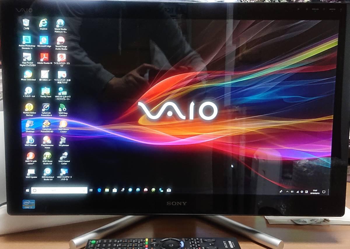 【美品・Blu-ray/地デジ録再PC】SONY VAIO L SVL24148CJB(CPU:i7-3630QM 2.4G、RAM:16G、HDD:3T、Blu-ray、office+実用アプリ多数付属)