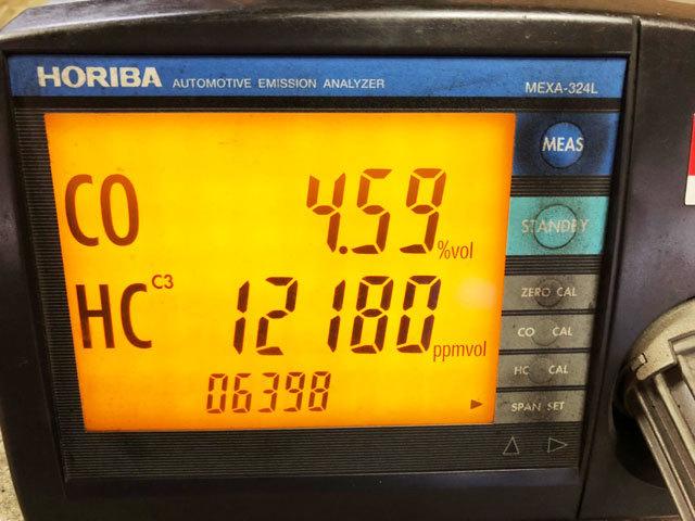 3876 中古 排気ガステスター 排ガステスター CO/HCテスター HORIBA ホリバ MEXA-324L プローブ 100V 認証 車検 自動車整備機械工具 売切り_画像8