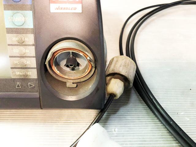 3876 中古 排気ガステスター 排ガステスター CO/HCテスター HORIBA ホリバ MEXA-324L プローブ 100V 認証 車検 自動車整備機械工具 売切り_画像5