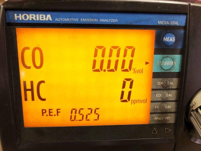 3876 中古 排気ガステスター 排ガステスター CO/HCテスター HORIBA ホリバ MEXA-324L プローブ 100V 認証 車検 自動車整備機械工具 売切り_画像7