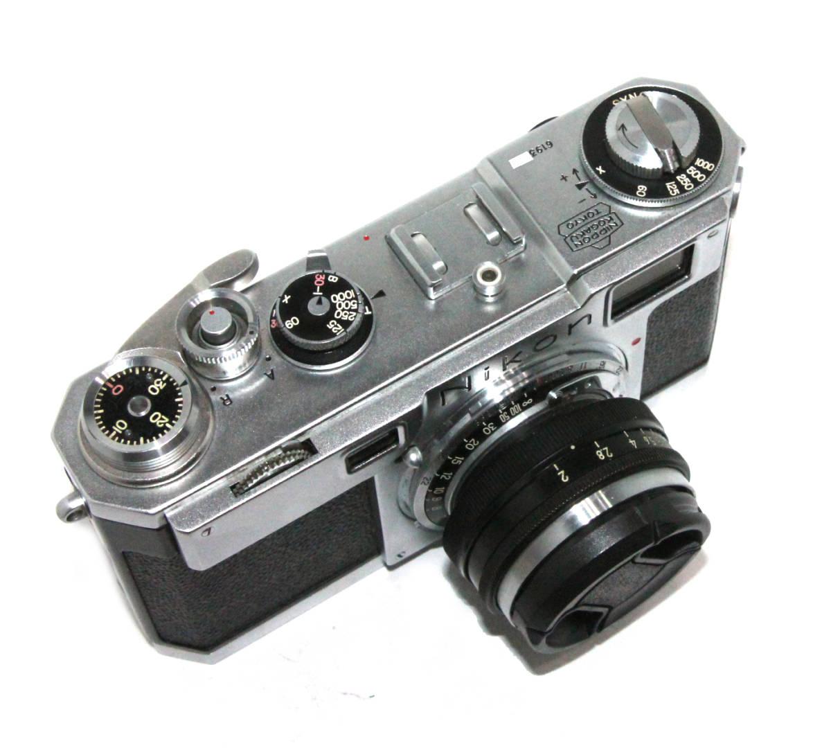 貴重 完動美品 ニコン S2 後期・ブラックダイヤル クロームボディ+50mm F2 後期・ブラック仕様付き_画像3