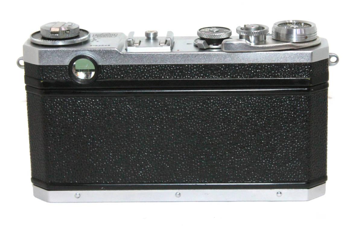 貴重 完動美品 ニコン S2 後期・ブラックダイヤル クロームボディ+50mm F2 後期・ブラック仕様付き_画像2