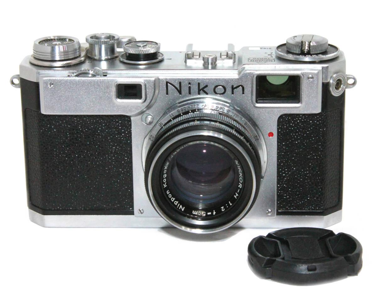 貴重 完動美品 ニコン S2 後期・ブラックダイヤル クロームボディ+50mm F2 後期・ブラック仕様付き_画像1
