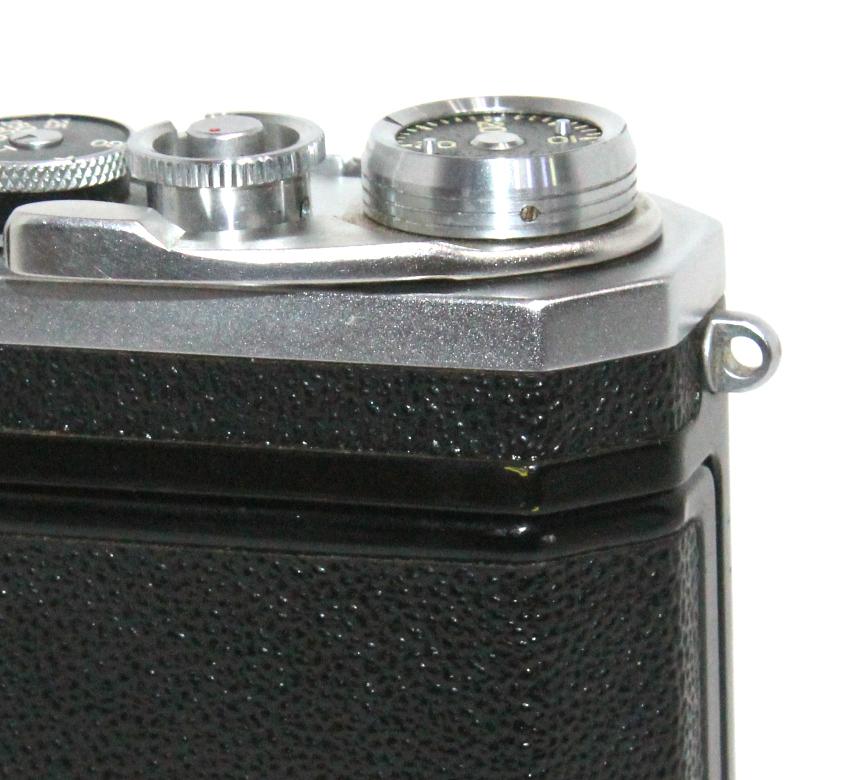 貴重 完動美品 ニコン S2 後期・ブラックダイヤル クロームボディ+50mm F2 後期・ブラック仕様付き_画像8