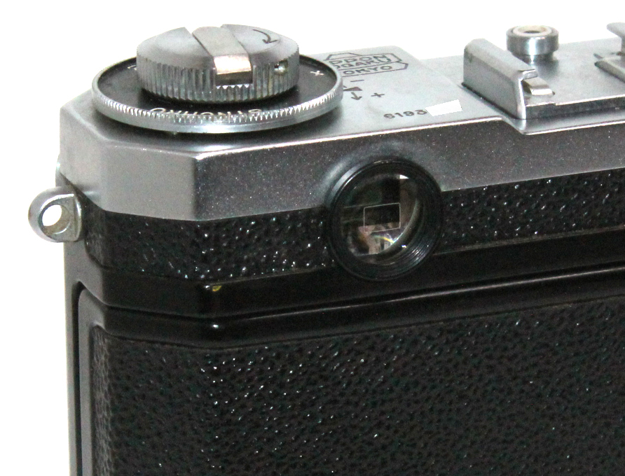 貴重 完動美品 ニコン S2 後期・ブラックダイヤル クロームボディ+50mm F2 後期・ブラック仕様付き_画像7