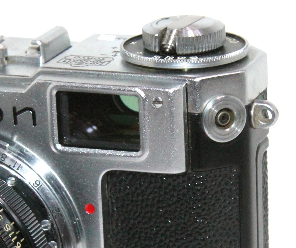 貴重 完動美品 ニコン S2 後期・ブラックダイヤル クロームボディ+50mm F2 後期・ブラック仕様付き_画像6