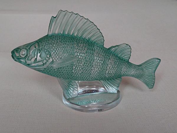 ルネ・ラリック R.LALIQUE 「Perche」 パーチ フィッシュ 魚 カーマスコット ラジエーターキャップ アンティーク 1929年