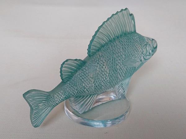 ルネ・ラリック R.LALIQUE 「Perche」 パーチ フィッシュ 魚 カーマスコット ラジエーターキャップ アンティーク 1929年_画像4