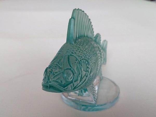 ルネ・ラリック R.LALIQUE 「Perche」 パーチ フィッシュ 魚 カーマスコット ラジエーターキャップ アンティーク 1929年_画像7
