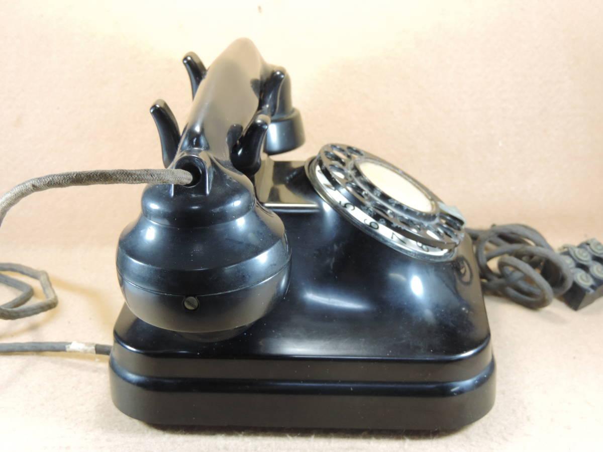 黒電話 3号機自動式卓上電話機 レトロ電話機 アンティーク電話機 インテリア 少なく希少になって来た黒電話機_画像4