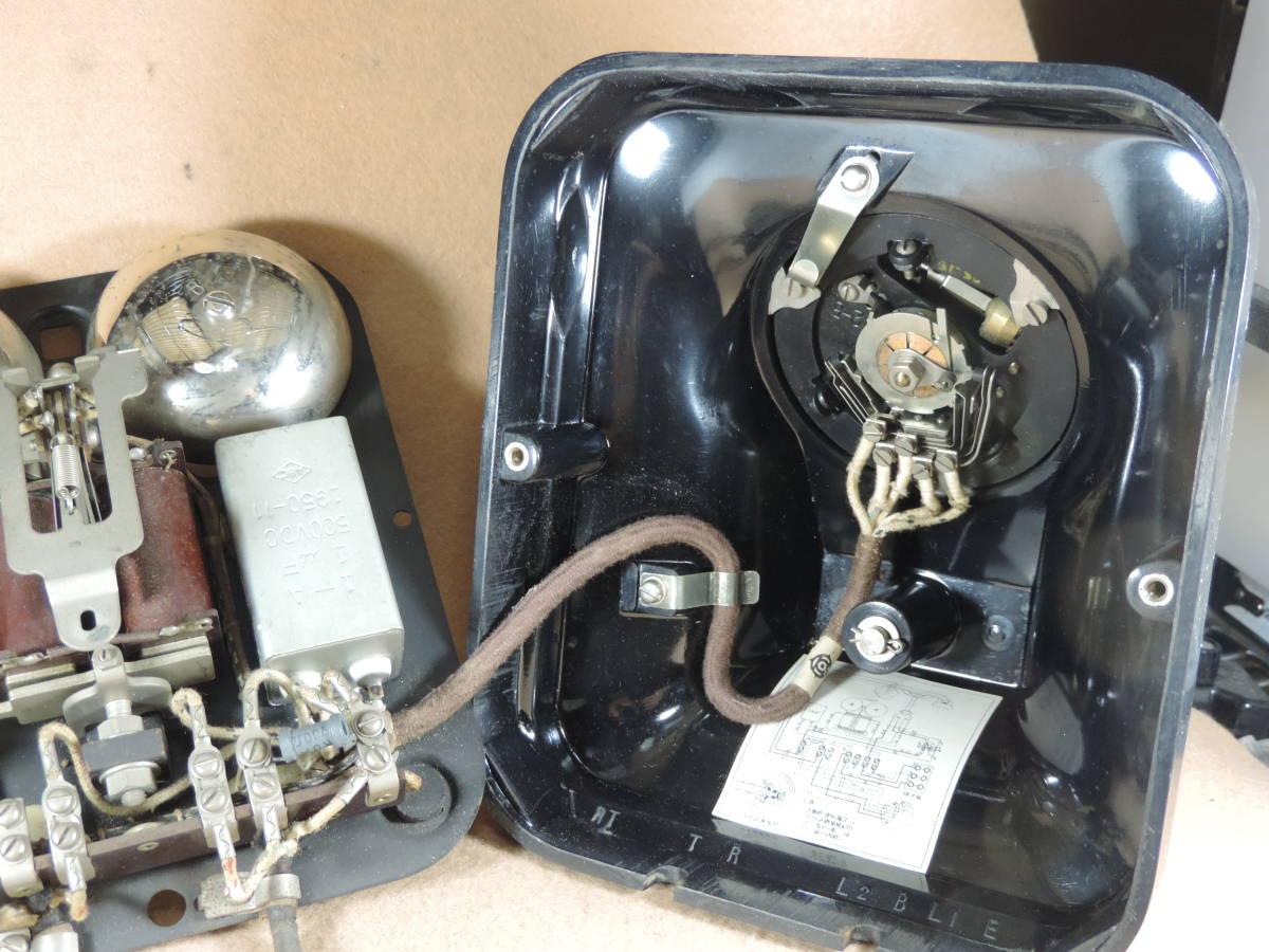 黒電話 3号機自動式卓上電話機 レトロ電話機 アンティーク電話機 インテリア 少なく希少になって来た黒電話機_画像9