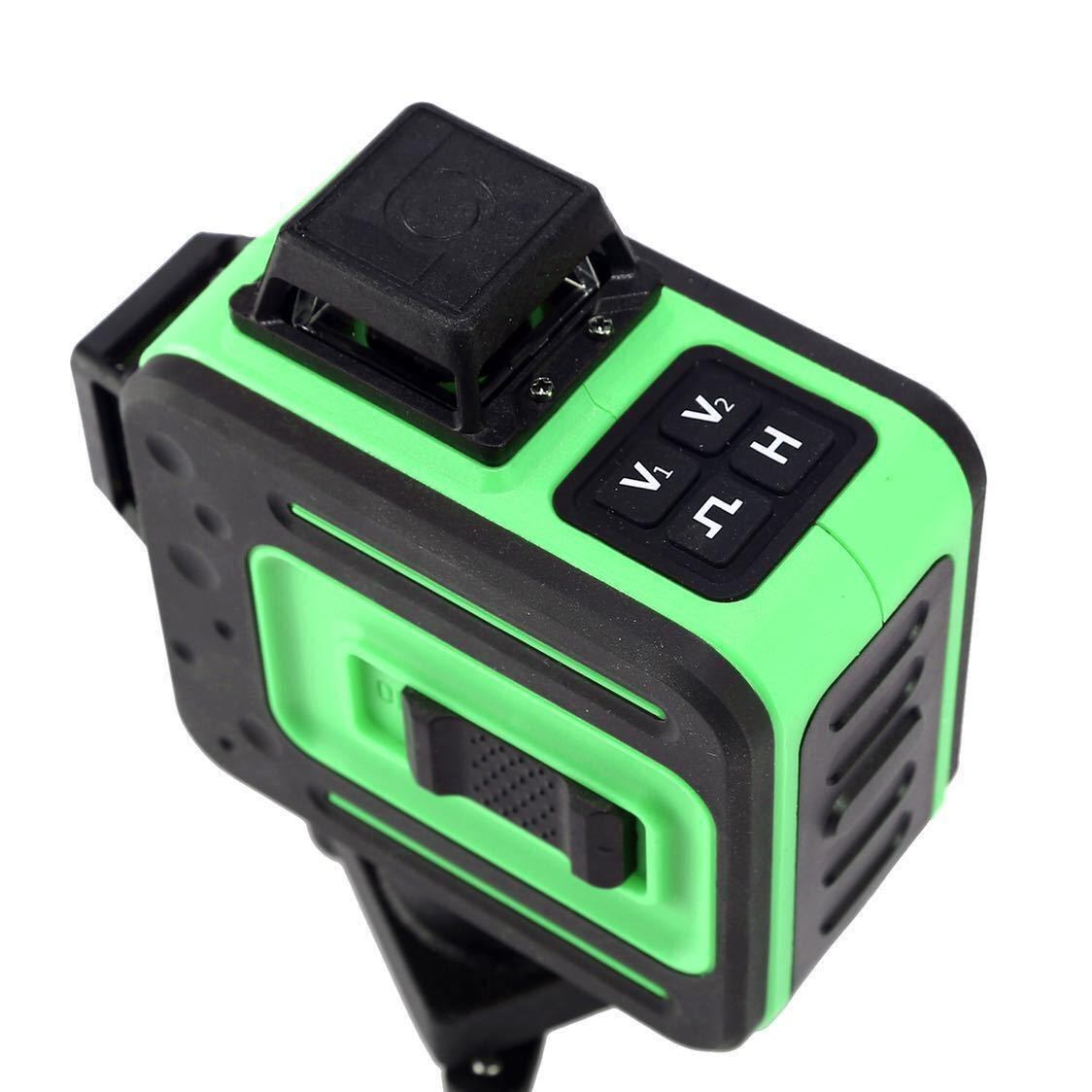 3D LASER 12ライン フルライングリーンレーザー墨出し器 360°垂直*2・360°水平*1グリーンレーザー墨出し器 レーザーレベル 水平器_画像6