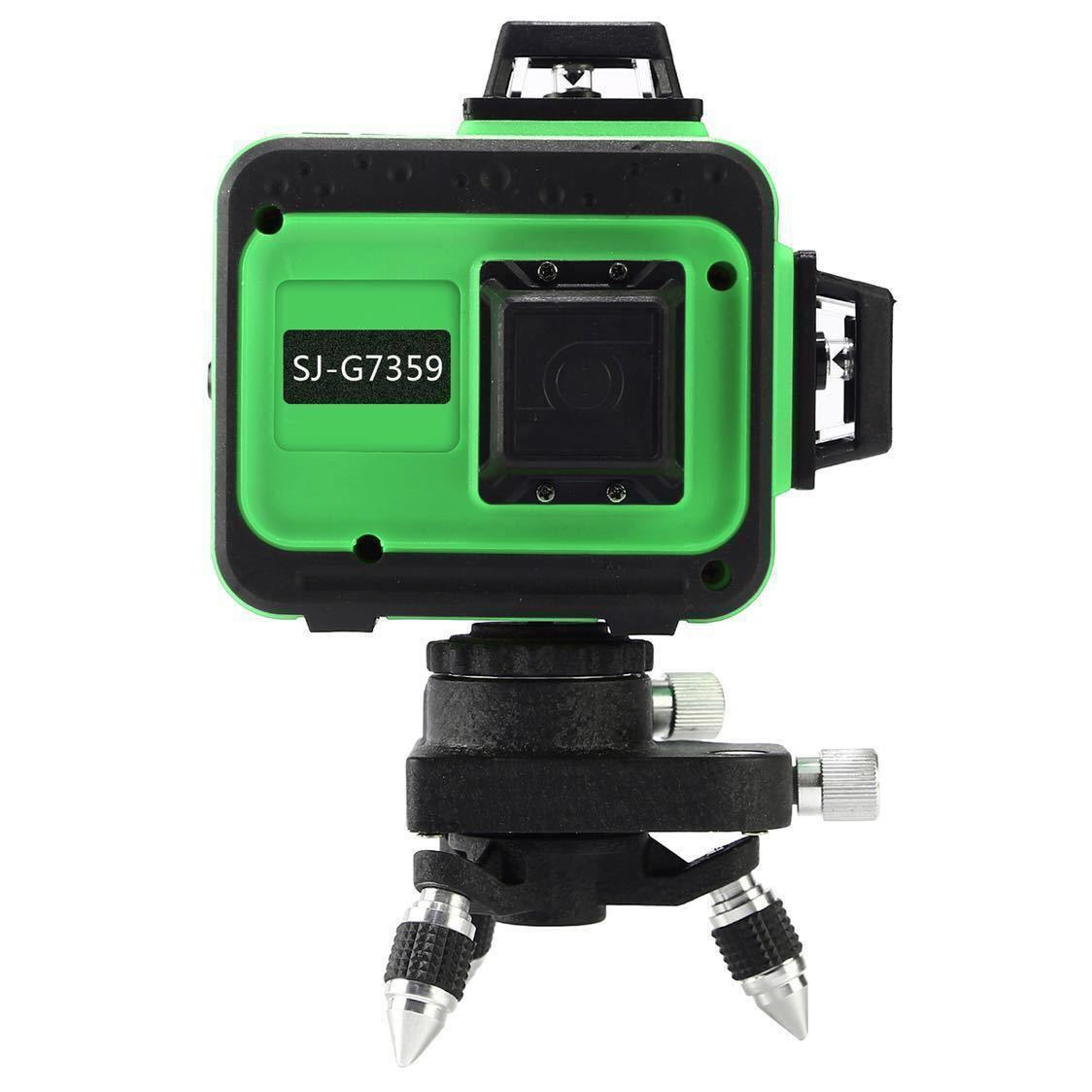 3D LASER 12ライン フルライングリーンレーザー墨出し器 360°垂直*2・360°水平*1グリーンレーザー墨出し器 レーザーレベル 水平器