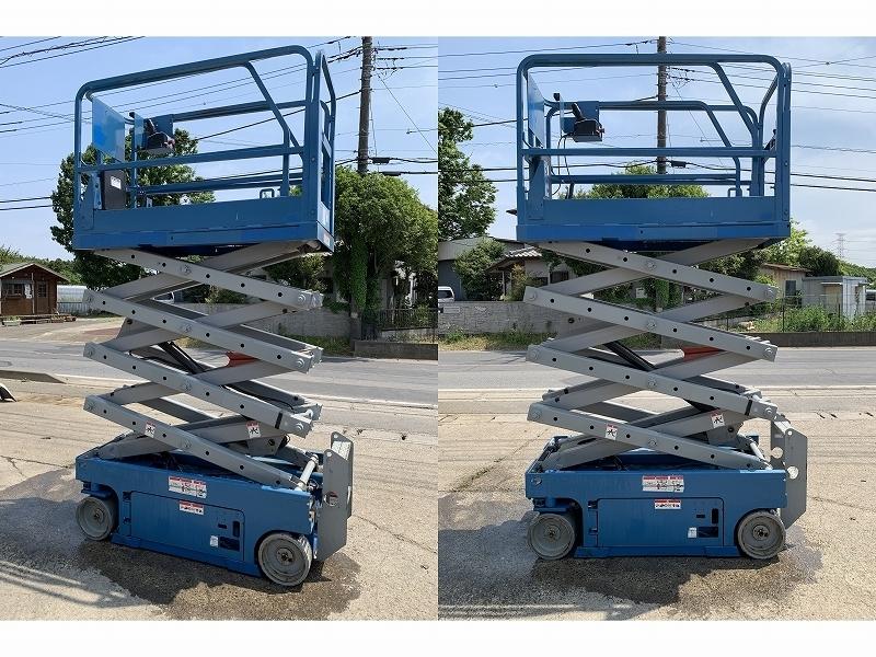 大型高所作業車■最大作業高7.8M/227kg 定価350万円 電動シザースリフト 自走式 垂直昇降型 A