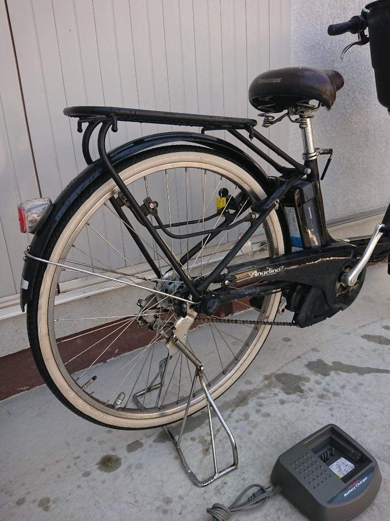 新基準 BRIDGESTONE Angelino ブリヂストン アンジェリーノ 8.1Ah 前子供乗せ 電動アシスト自転車 電動自転車_画像6