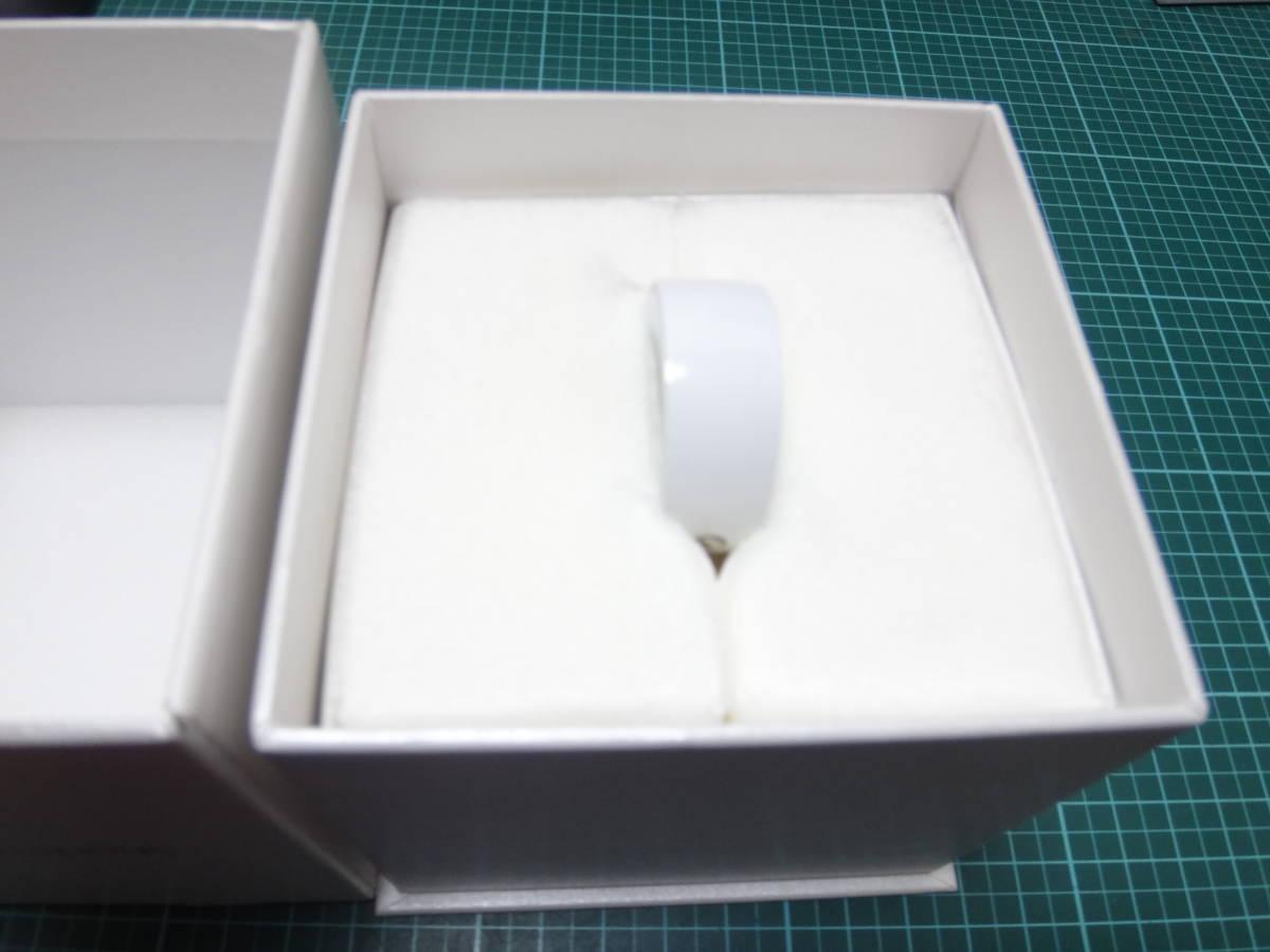 ★☆激レア:指輪型ウェアラブル 「Ring ZERO」白Lサイズ:中古美品☆★