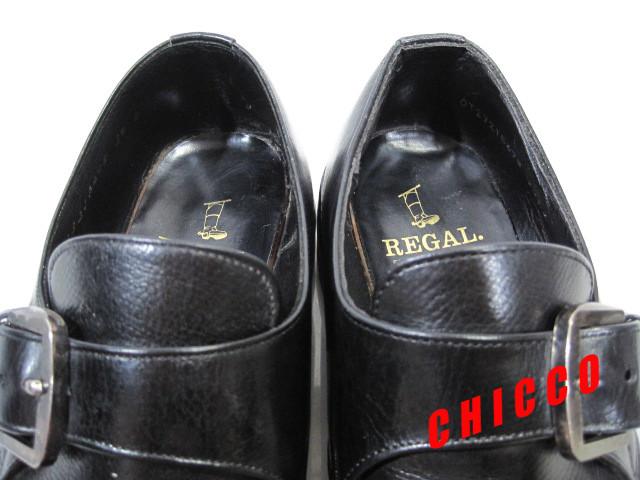 即決★REGAL メンズ 24EE ブラック★リーガル 本革 レザー シングル モンクストラップ ビジネスシューズ 黒 革靴 紳士靴 ドレスシューズ_画像9