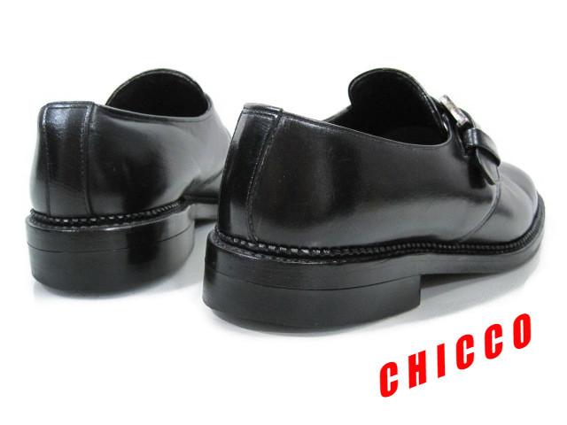 即決★REGAL メンズ 24EE ブラック★リーガル 本革 レザー シングル モンクストラップ ビジネスシューズ 黒 革靴 紳士靴 ドレスシューズ_画像2