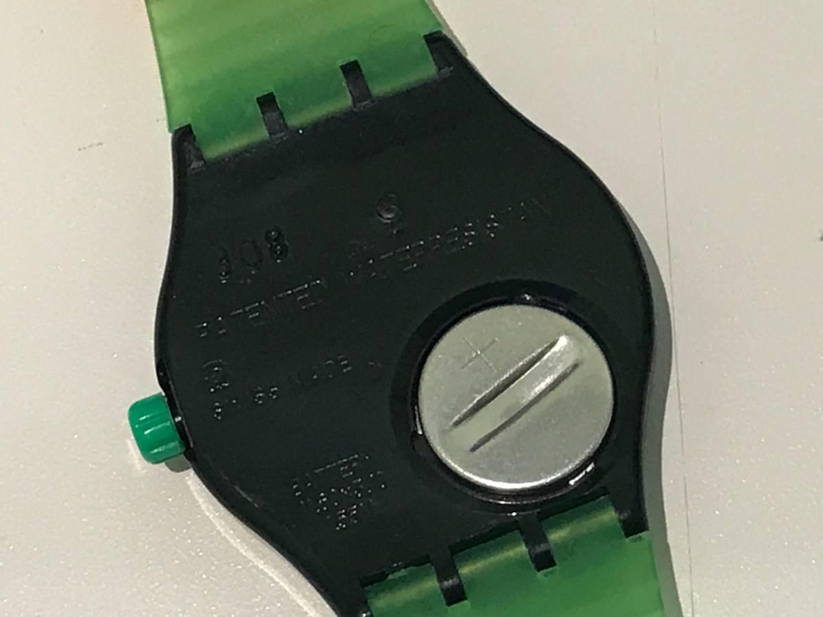 □3616□Swatch/スウォッチ 黒緑 SSB100 ジャンク!_画像4